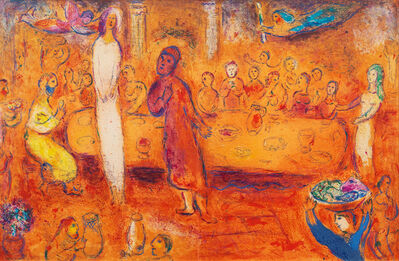 Marc Chagall, 'Megacles Recognizes His Daughter During the Feast from Daphnis and Chloe Suite', 1961