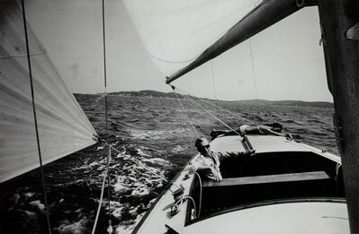 Loomis Dean, 'Herbert and Eliette von Karajan on their sailing boat', 1964