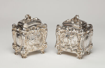 Elizabeth Godfrey, 'Pair of George II tea caddies', 1755