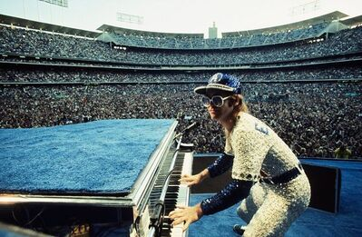 Terry O'Neill, 'Elton John Live at Dodger Stadium', ca. 1975