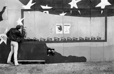 Micha Bar-Am, 'Keith Haring at work. New York.', 1980