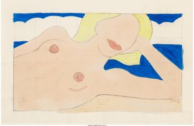 Tom Wesselmann, 'Study for Proposed Seascape Reclining Nude', 1963