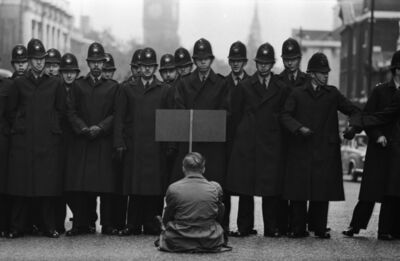 Don McCullin, 'Protester, Cuban Missile Crisis, Whitehall, London', 1962