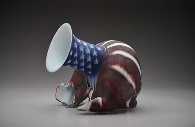 Steven Young Lee, 'Red, White, and Blue Vase with Stars and Stripes', 2019
