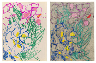 Anthony Campuzano, 'Double Ballibay Flowers No. 1 (Diptych)', 2017