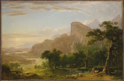 """Asher Brown Durand, 'Landscape—Scene from """"Thanatopsis""""', 1850"""