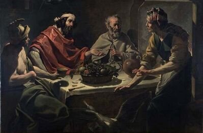Abraham Janssens, 'Philemon and Baucis Entertaining Jupiter and Mercury', ca. 1615-25
