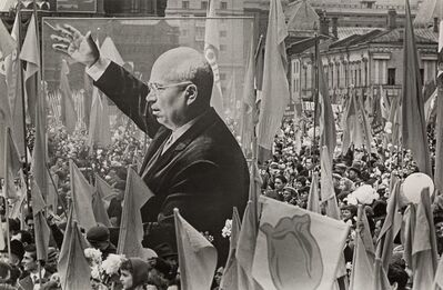 Dmitri Baltermants, 'Red Square Parade with Banner of Kruschev', circa 1950s