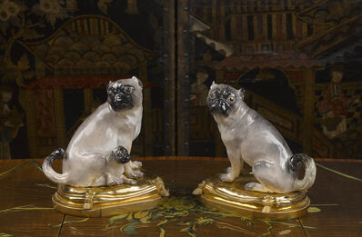 Johann Joachim Kändler, 'A pair of ormolu-mounted pugs (medium-size) ', 1741