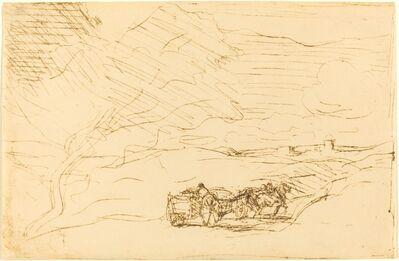Jean-Baptiste-Camille Corot, 'Wagon Going to Town (Le Charriot allant a la ville)', 1860