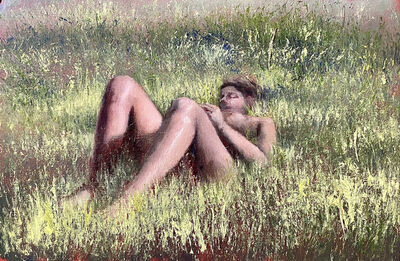 Lisa Lebofsky, 'In the Grass', Oil on Paper