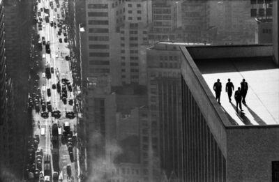 René Burri, 'René Burri, Men on a roof top, Sao Paulo, Brazil', 1960