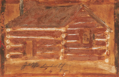 Jimmy Lee Sudduth, 'Log Cabin', 1974