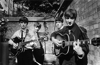 Terry O'Neill, 'The Beatles Backyard', 1963