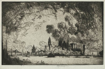 Joseph Pennell, 'New York, From Brooklyn', 1915