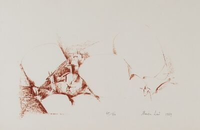 Maria Lai, 'Landscape with sheeps', 1969