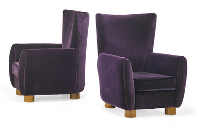 Jean Royère, 'Pair of Relax chairs', 1940s