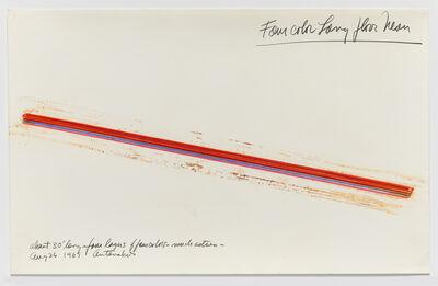 Stephen Antonakos, 'Four Color Long Floor Neon', 1969