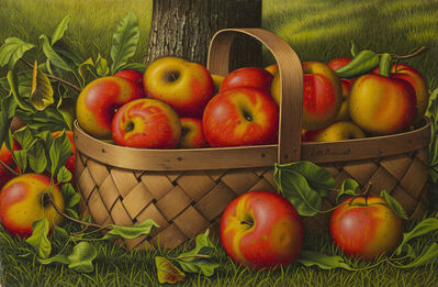Levi Wells Prentice, 'Apples in a Basket'