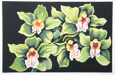 Lowell Nesbitt, 'Green and White Irises', 1980