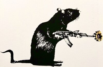 Blek le Rat, 'The Warrior - ARTIST PROOF', 2021