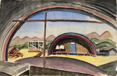Lawrence Halprin, 'Encampment Barracks', 1943-1944