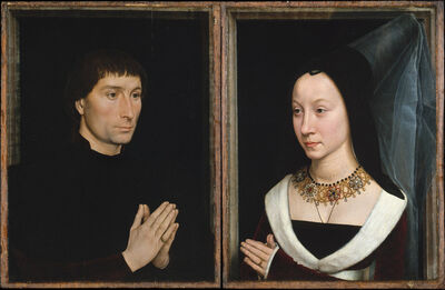 Hans Memling, 'Tommaso di Folco Portinari (1428–1501); Maria Portinari (Maria Maddalena Baroncelli, born 1456)', ca. 1470