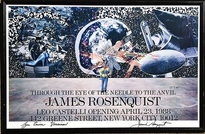James Rosenquist, 'Rosenquist at Leo Castelli, Hand Signed ', 1988