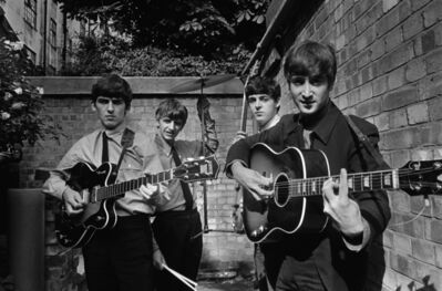 Terry O'Neill, 'The Beatles in the backyard of the Abbey Road studio, London 1963', 1963
