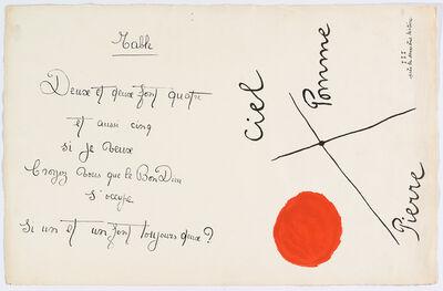 """Joan Miró, '""""Il était une petite pie"""" (There Was a Little Magpie) – Sheet I', 1928"""