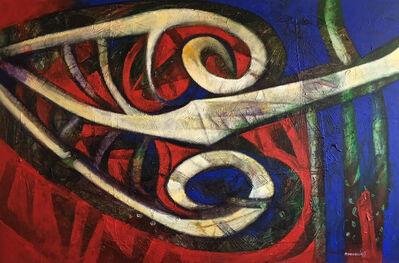 Raul Pozo Enmanuel, 'Formas en azul y rojo', 2011