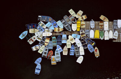 Alex Maclean, 'Dinghies Clustered Around Dock, Duxbury', 2010