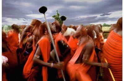 Douglas Kirkland, 'Masai Warriors, Kenya', 1973