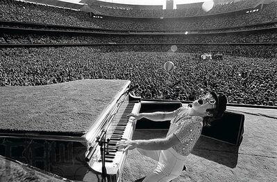 Terry O'Neill, 'Elton John Dodger Stadium, Howling', 1975