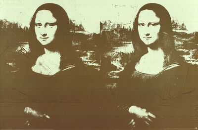 Andy Warhol, 'Two Golden Mona Lisas (Lg)', 1990
