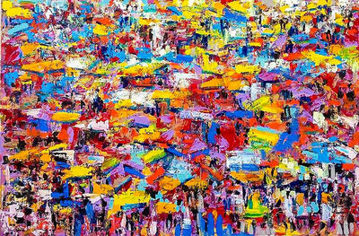 Larry Otoo, 'Colourful market', 2018