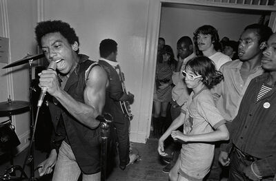 Lucian Perkins, 'HR and Charley Davis, Hard Art Gallery', 1979