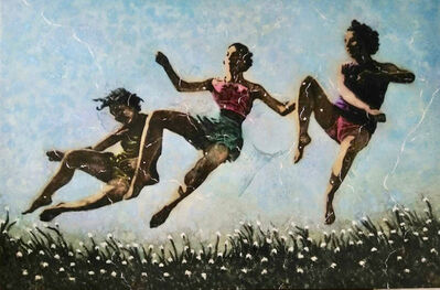 Karlos Pérez, 'Untitled (3 women in the air) ', 2018