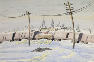 Charles Ephraim Burchfield, '(Untitled) The Freight Train', ca. 1917-1920