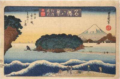Utagawa Toyokuni II, 'Eight Celebrated Views: Fine Day at Enoshima', early 1830's.