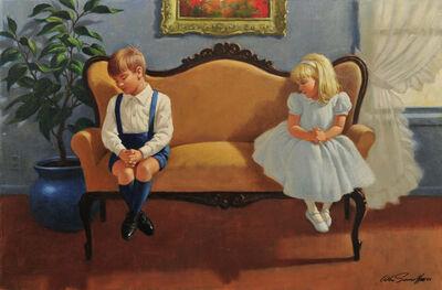 Arthur Sarnoff, 'Kids Sitting on Love Seat'