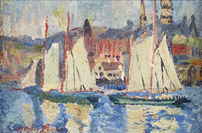 Richard Hayley Lever, 'Fishing Boats Returning to Gloucester, Massachusetts', 1914