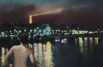Youssef Nabil, 'Self portrait at night, Paris', 2010