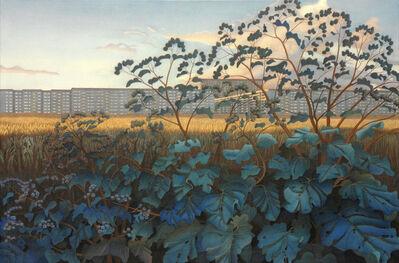 Peter Eckert, 'Stadtrand mit Diestel und Kletten (Suburban landscape)', 2000