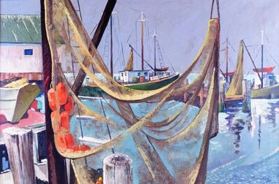 Frederick Buchholz, 'Drying Nets', 1938