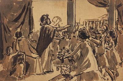 Maurice Gueroult, 'Roman Scene', 1875