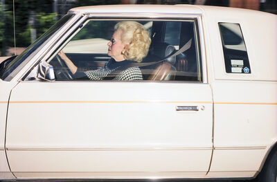 "Andrew Bush, '""Woman driving south at 38 mph on La Cienaga Boulevard near the Beverly Center- Los Angeles""', 1997"