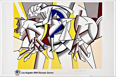 Roy Lichtenstein, 'The Red Horsemen, (aka The Equestrians) for Los Angeles 1984 Olympic Games', 1982