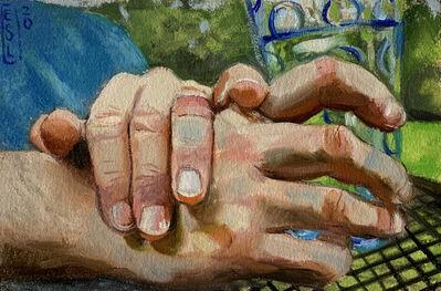 Ellen Starr Lyon, 'His Hands (Postcard)', 2020
