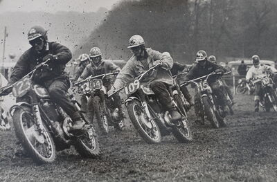 Gerry Cranham, 'Start of Top Riders event at Seven Stars Scramble meeting, Brands Hatch, Jan 1965'